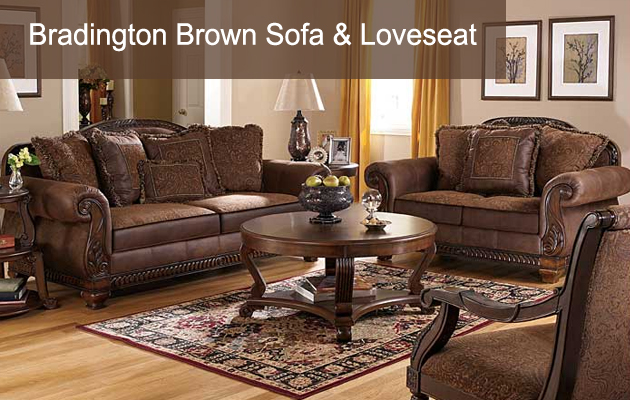 Bradington Brown Sofa & Loveseat